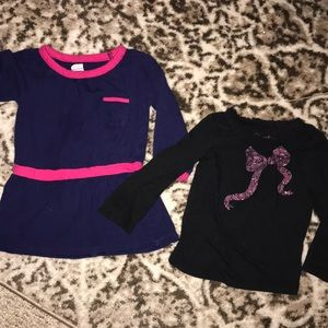 Bundle of size 12-18 month long sleeve tops